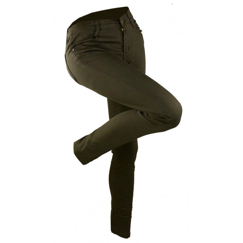 Spodnie damskie khaki bawełniane