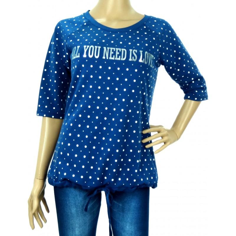 Bluzka/bluza granatowa z napisem ALL YOU NEED IS LOVE