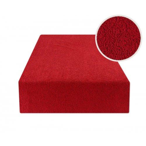 Prześcieradło z gumką 160x200 FROTTE Czerwony Prześcieradło Frotte z Gumką 160x200