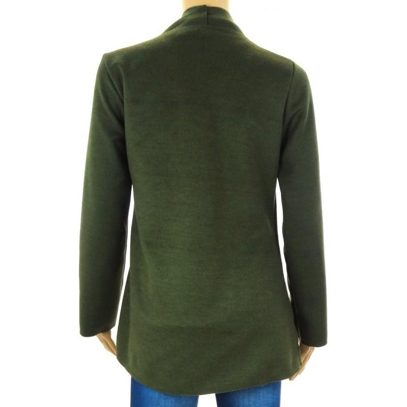 Sweter/ żakiet z flauszu (khaki)