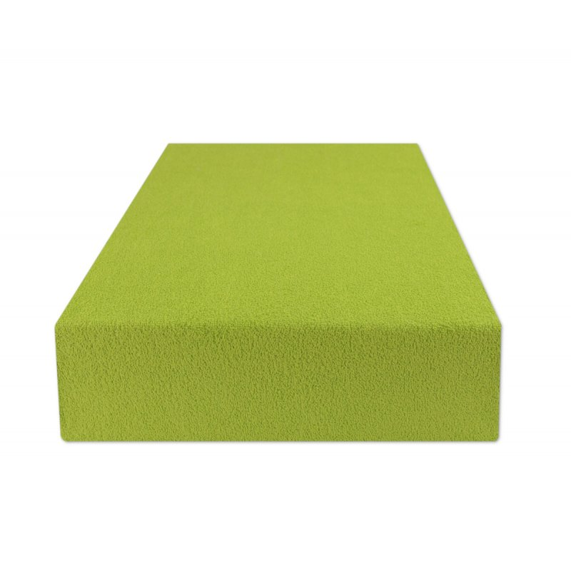 Zielone prześcieradło z gumką 180x200 FROTTE Trawa Prześcieradło z Gumką Zielone