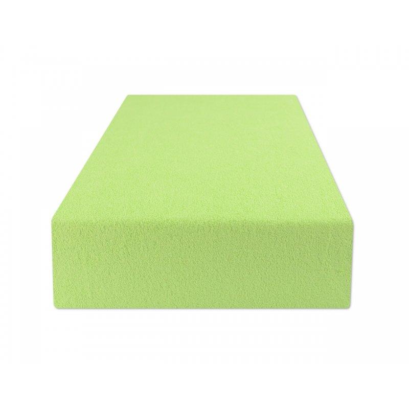 Jasno zielone prześcieradło z gumką 180x200 FROTTE Jasna Zieleń