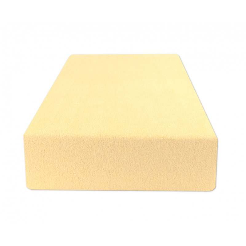 Jasno żółte prześcieradło z gumką 180x200 FROTTE Banan Prześcieradła Frotte 180x200 Prześcieradło z Gumką Frotte 180x200
