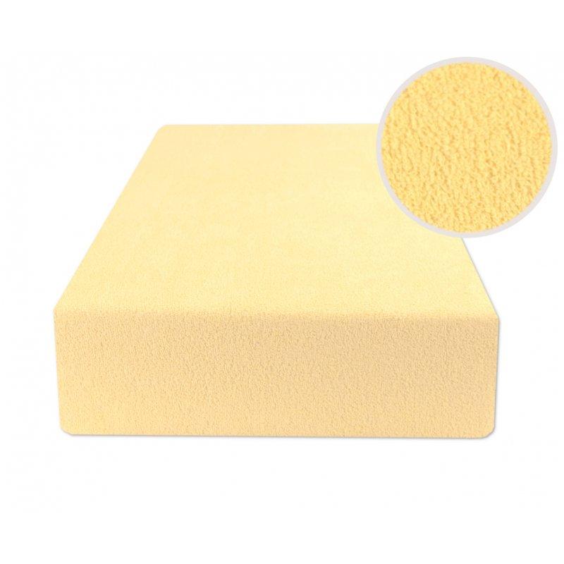 Jasno żółte prześcieradło z gumką 200x220 FROTTE Banan