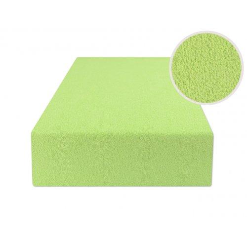 Jasno zielone prześcieradło z gumką 200x220 FROTTE Jasna Zieleń