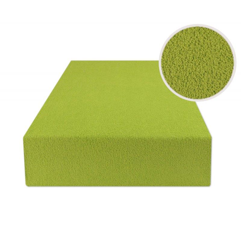 Zielone prześcieradło z gumką 200x220 FROTTE Trawa Prześcieradło z Gumką 200x220 Przescieradlo Frotte 200x220