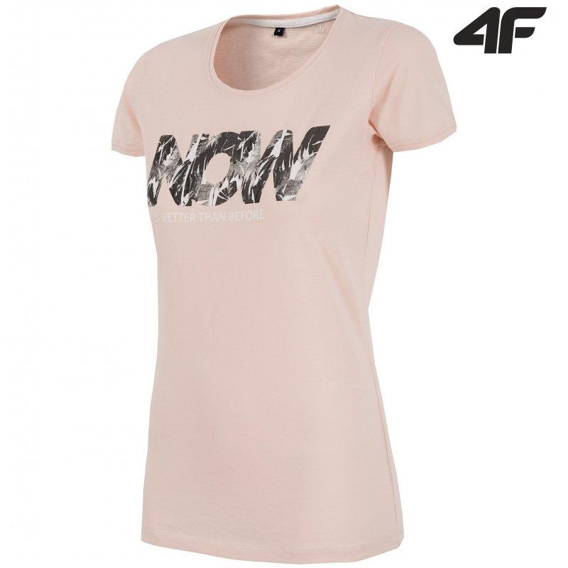 T-shirt damski 4F TSD008 (pudrowy róż)