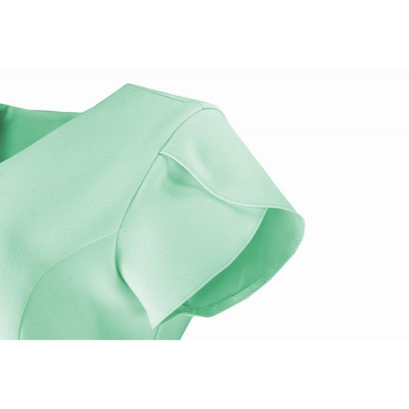 Sukienka koktajlowa z rękawem typu motylek - miętowa