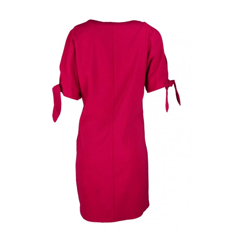 Luźna sukienka koktajlowa - fuksja