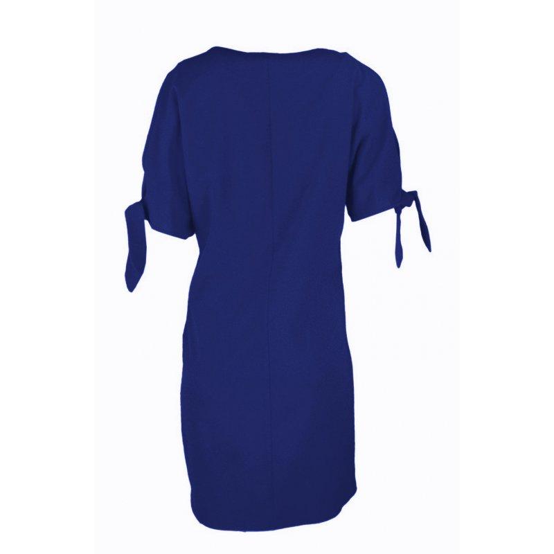 Luźna sukienka koktajlowa - chaber