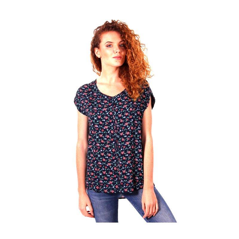 Zwiewna bluzka damska Z WISKOZY- drobne kwiaty