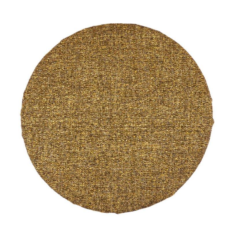 Okrągła Poduszka na Taboret 35 cm Brązowy Melanż Poduszki na Taborety Kuchenne