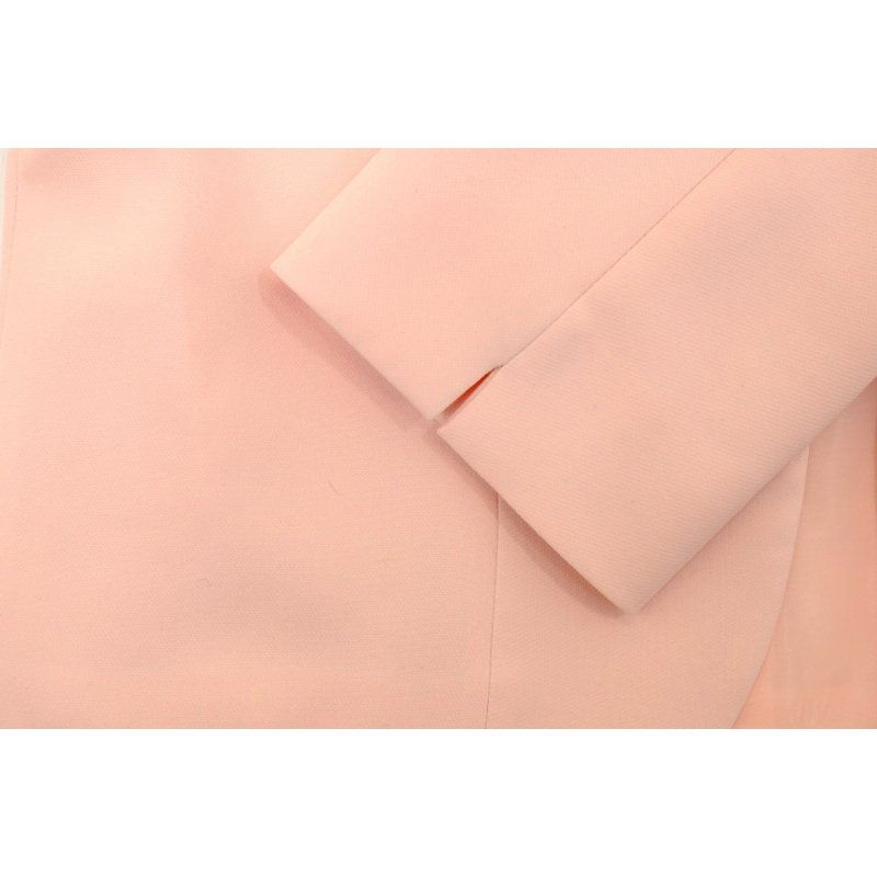 Łososiowy żakiet damski do sukienki - POLSKI PRODUCENT - brzoskwinia elegancki żakiet