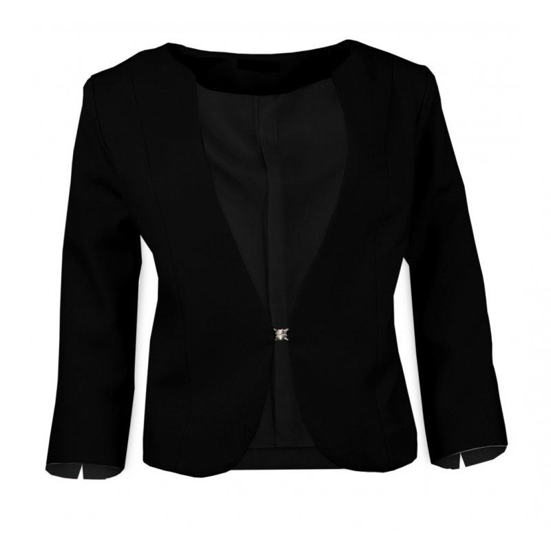 Czarny żakiet do sukienki Klasyczny - POLSKI PRODUCENT - czarny
