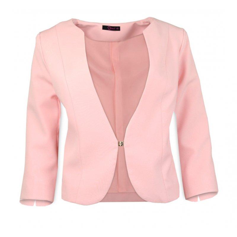 e7f4f656c2 Damski żakiet do sukienki - POLSKI PRODUCENT - jasno różowy ...