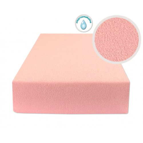 Prześcieradło Nieprzemakalne z Gumką 60x120 FROTTE Jasno różowe Wodoodporne prześcieradło z gumką BabyMatex
