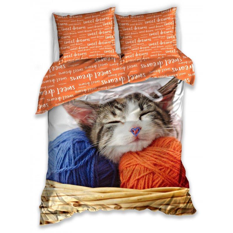 Pościel KOT 160x200 NL183045 Pościel w koty dla dzieci