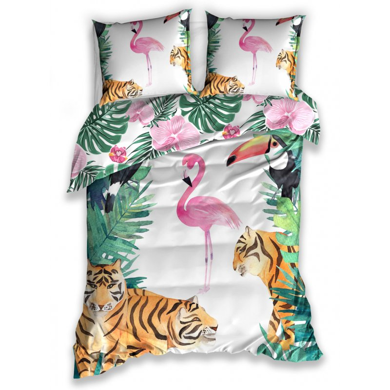 Pościel 3D FLAMINGI 160x200 NL187021B Elegancka posciel 3D Pościel 160x200 Flamingi