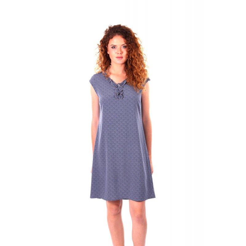 Sukienka z żabotem- w kształcie litery A
