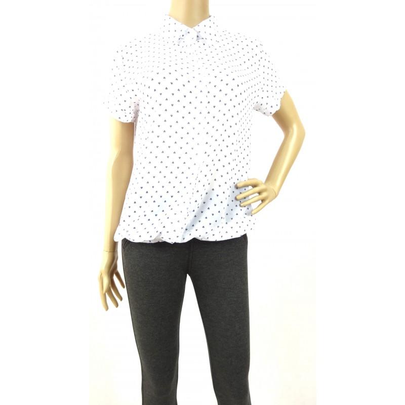 Bluzka szyfonowa z gumką (biała)