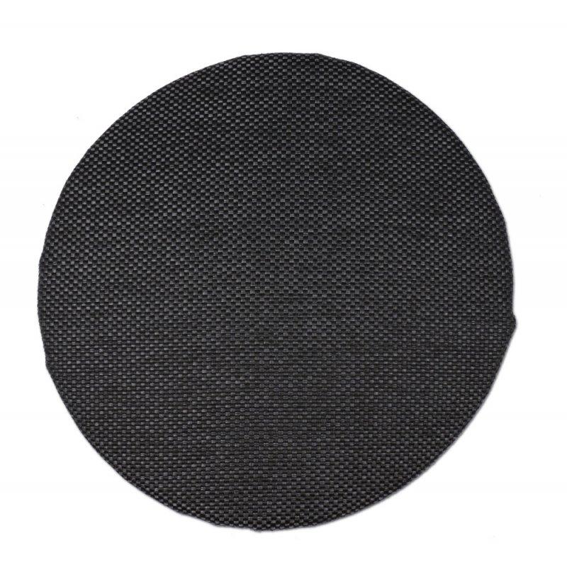 Okrągła poduszka na taboret 35 cm (grafit plecionka)