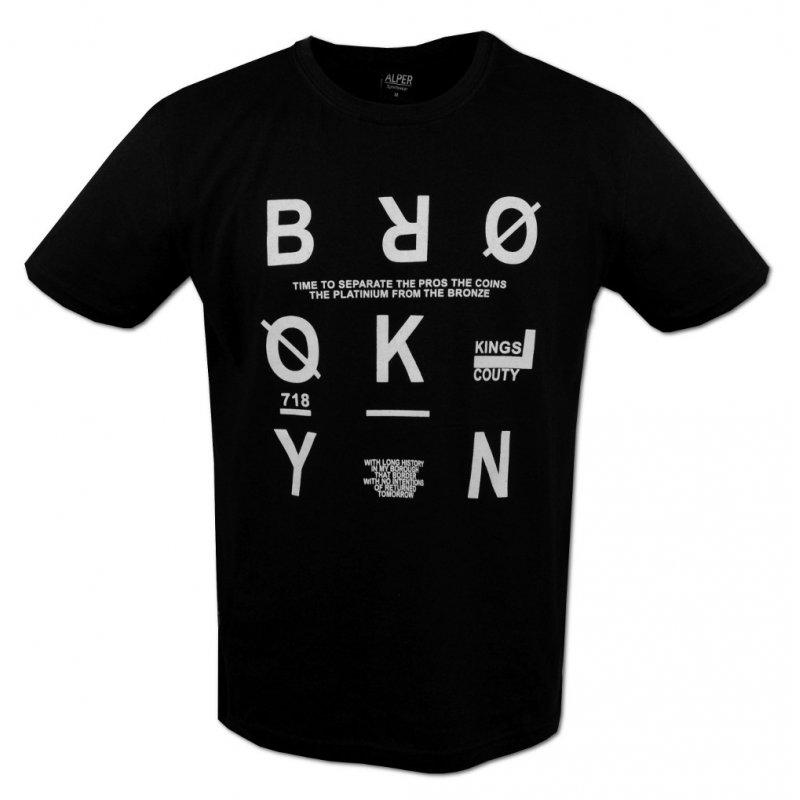 Koszulka T-SHIRT Męski PODKOSZULEK Czarny