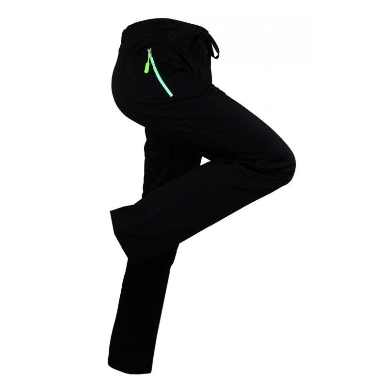 Spodnie dresowe sportowe ELASTYCZNE (zielone)