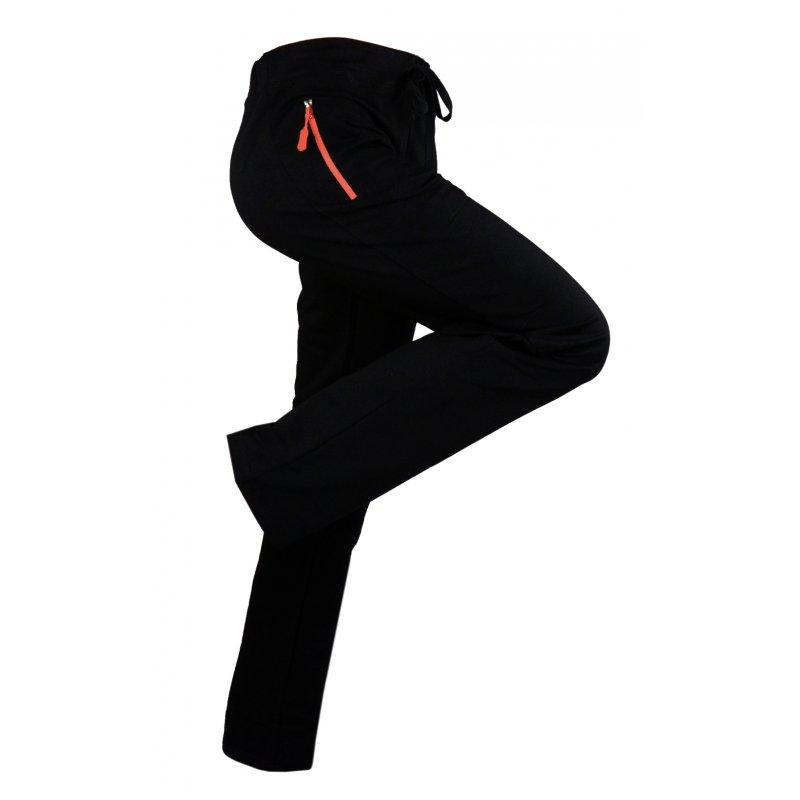 Spodnie dresowe sportowe ELASTYCZNE (pomarańczowe)