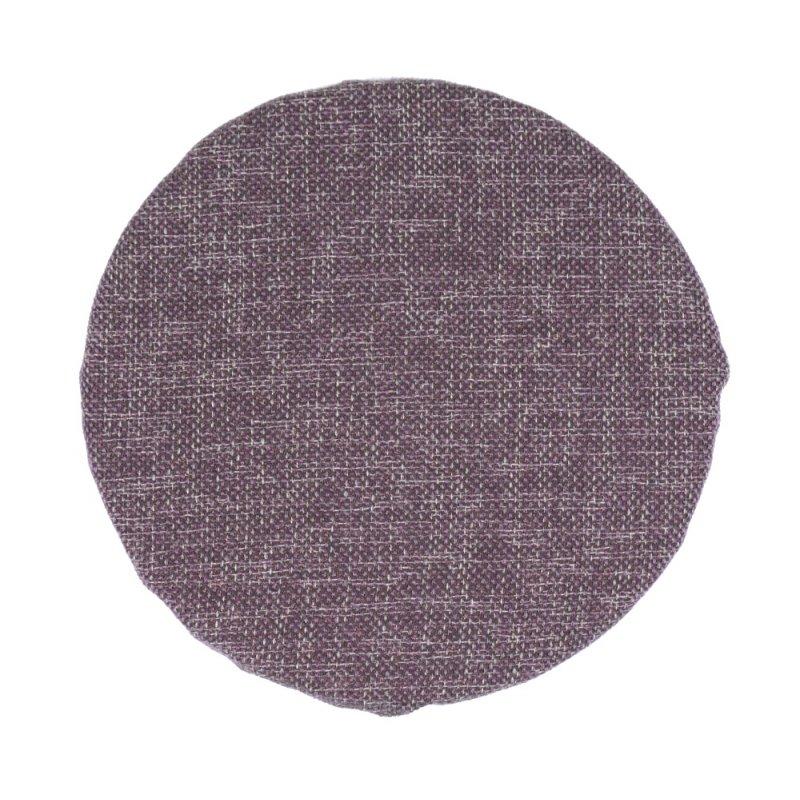 Okrągła Poduszka na Taboret 30 cm Śliwka Melanż Poduszka na Okrągły Taboret