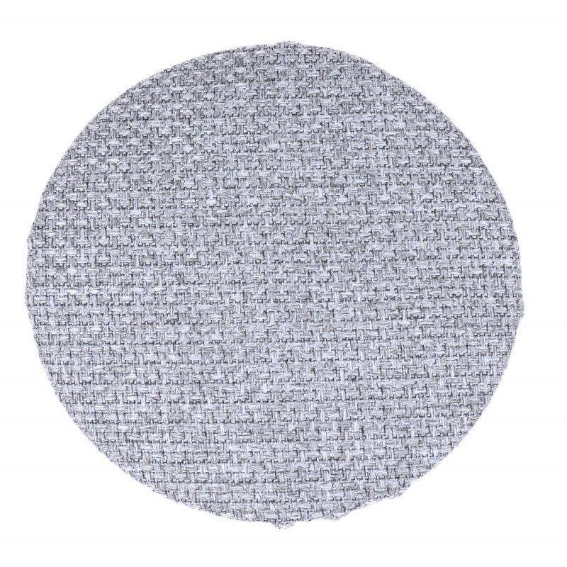 Okrągła poduszka na taboret 30 cm (jasnoszara plecionka) Poduszka na Taboret Okrągła