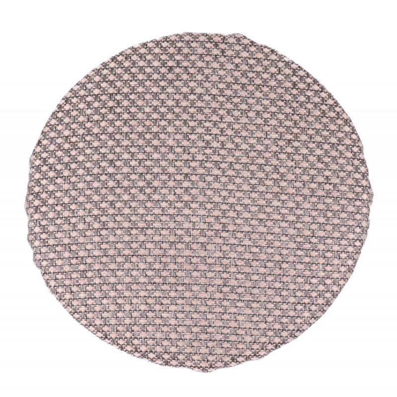 Okrągła poduszka na taboret 30 cm (beż plecionka) Siedzisko na Stołek