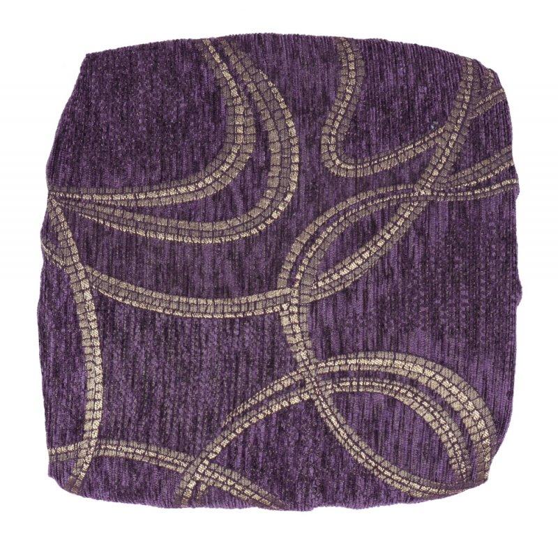 Kwadratowa Poduszka na Taboret 30x30 cm Gold Violet Poduszki na Taboret Kuchenny