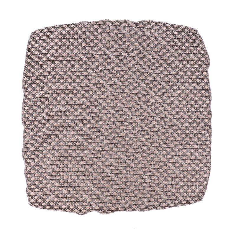 Kwadratowa poduszka na taboret 30x30 cm (beż plecionka) Poduszki na Stołki Kuchenne