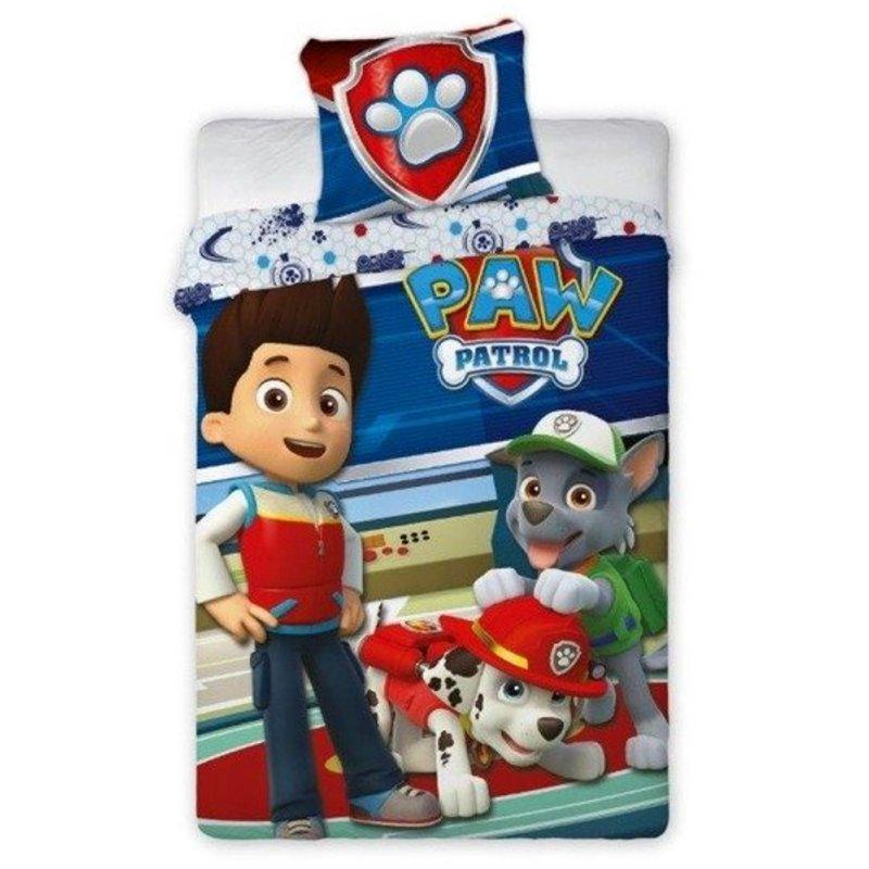 Pościel dla dzieci Psi Patrol 160x200 100% Bawełna PSI PATROL 084 Pościel dziecięca z Psim Patrolem