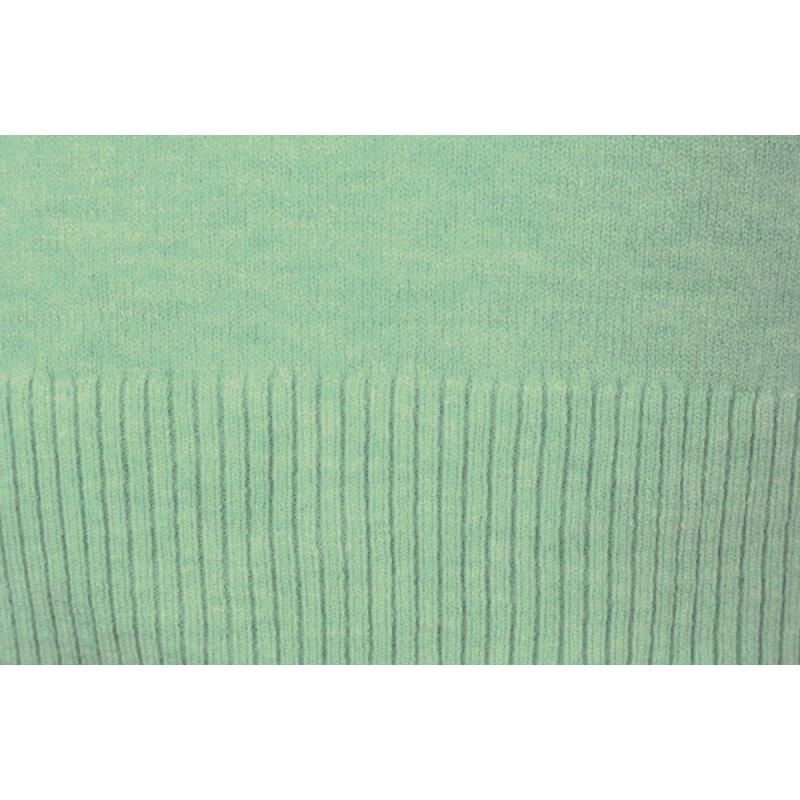 Morski Sweter Damski z Liściem Klonu z Modalu