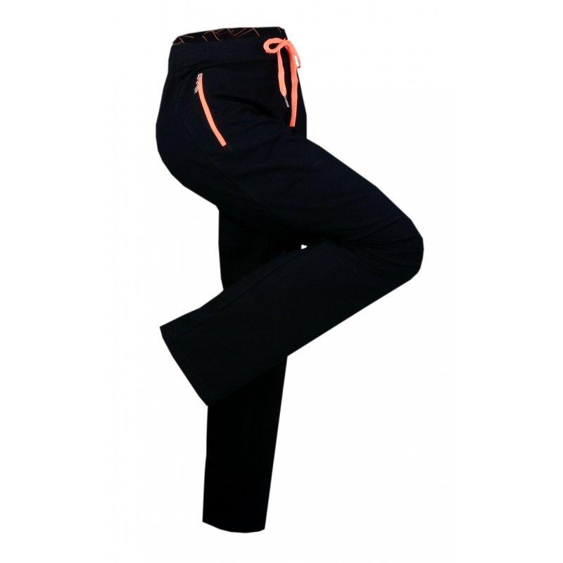 Spodnie Dresowe DAMSKIE Sportowe N-FEEL - Pomarańczowe