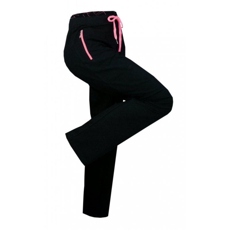 Spodnie Dresowe DAMSKIE Sportowe N-FEEL - Fuksja Na siłownię na fitness