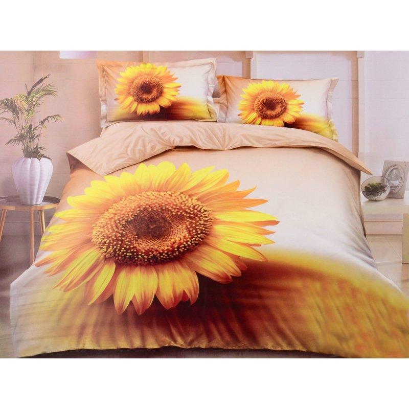 Pościel w Słoneczniki 200x220 Satyna Bawełniana Pościel 3D Słoneczniki 200x220 Pościel Słoneczniki