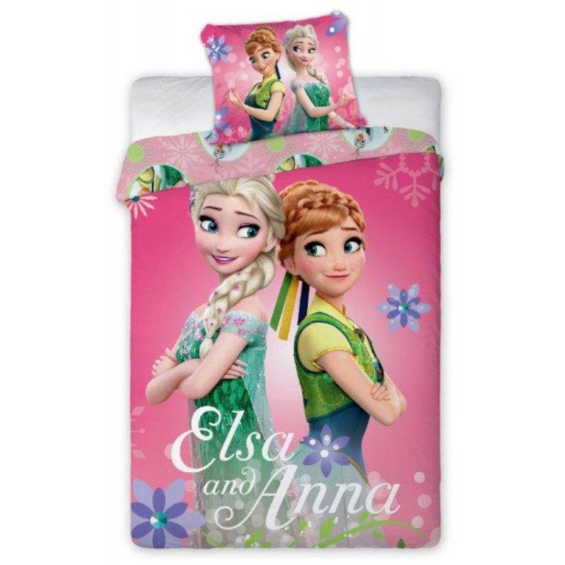 Pościel KRAINA LODU 140x200 100% Bawełna Pościel dla Dzieci Disney Pościel Dziecięca Disney Pościel dla Dziewczynki Elsa
