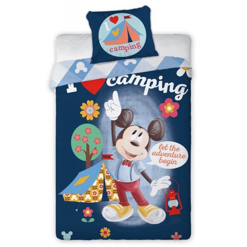 Pościel Myszka Miki Mickey 140x200 100% Bawełna 090 Pościel dla Chłopca Pościel Disney 140x200 Pościel 140x200 Disney