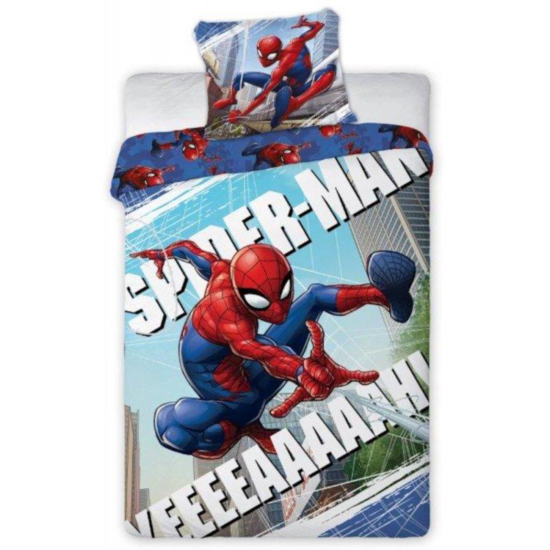 Pościel Spiderman 140x200 100% Bawełna Pościel Spider Man Pościel ze Spidermanem Pościel Dwustronna Pościel 140x200 Spiderman
