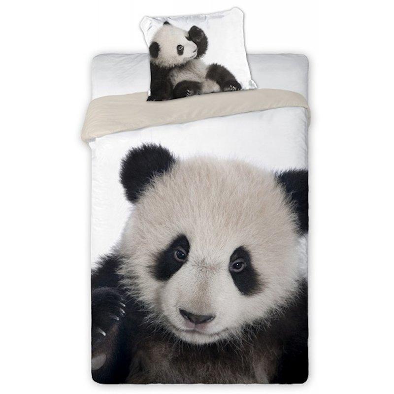 Pościel PANDA 160x200 100% Bawełna Pościel 3D Panda Pościel z Pandą Pościel Pandy 160x200 Pościel 2 Częściowa 160x200