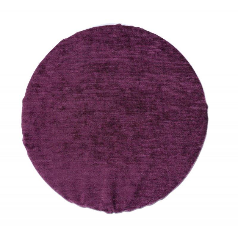 Okrągła Poduszka na Taboret 35 cm Fiolet Śliwka Poduszka na Taboret Okrągła 35 cm Poduszka na Krzesło Tanio