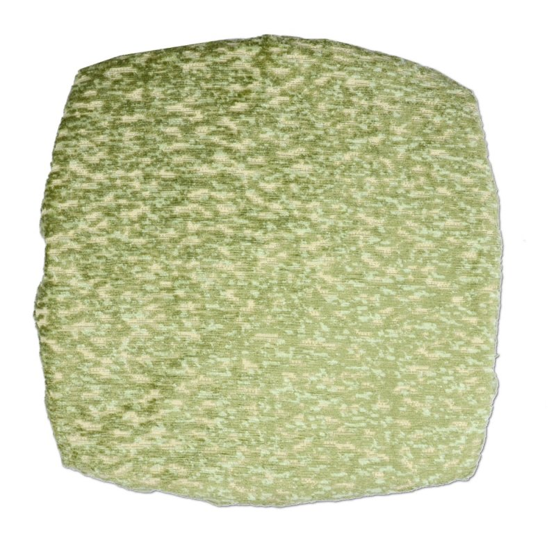Kwadratowa poduszka na taboret 30x30 cm ( jasna zieleń melanż)