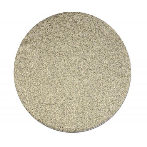 Okrągła poduszka na taboret 30 cm (piaskowy beż)