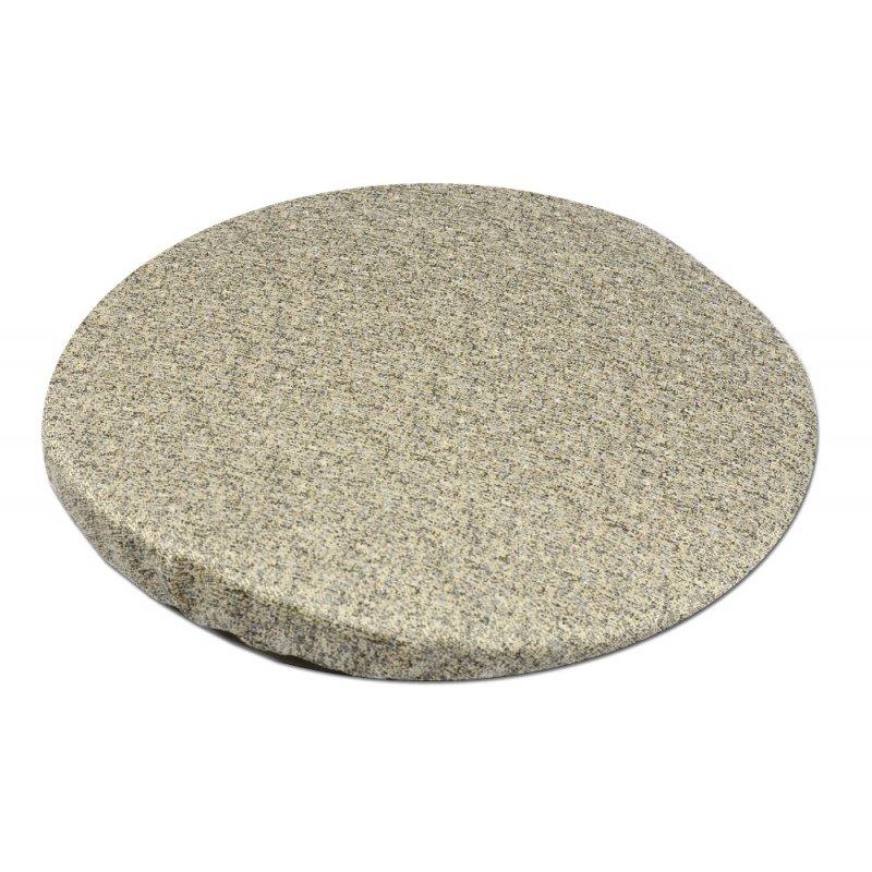 Okrągła poduszka na taboret 30 cm (piaskowy beż) Poduszka na Stołek Skrągła