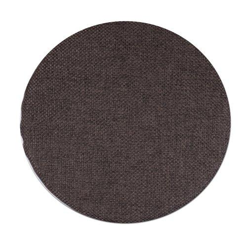 Okrągła poduszka na taboret 30 cm (ciepły brąz plecionka)