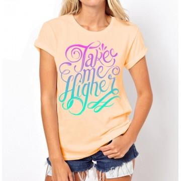Koszulka Take Me Higher (beżowa)