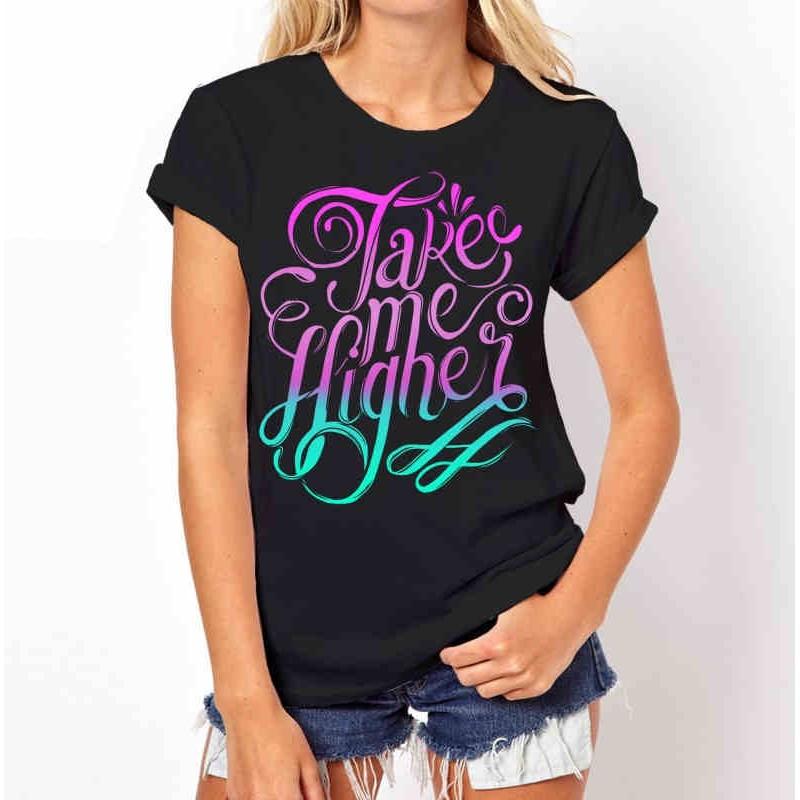 Koszulka Take Me Higher (czarna)