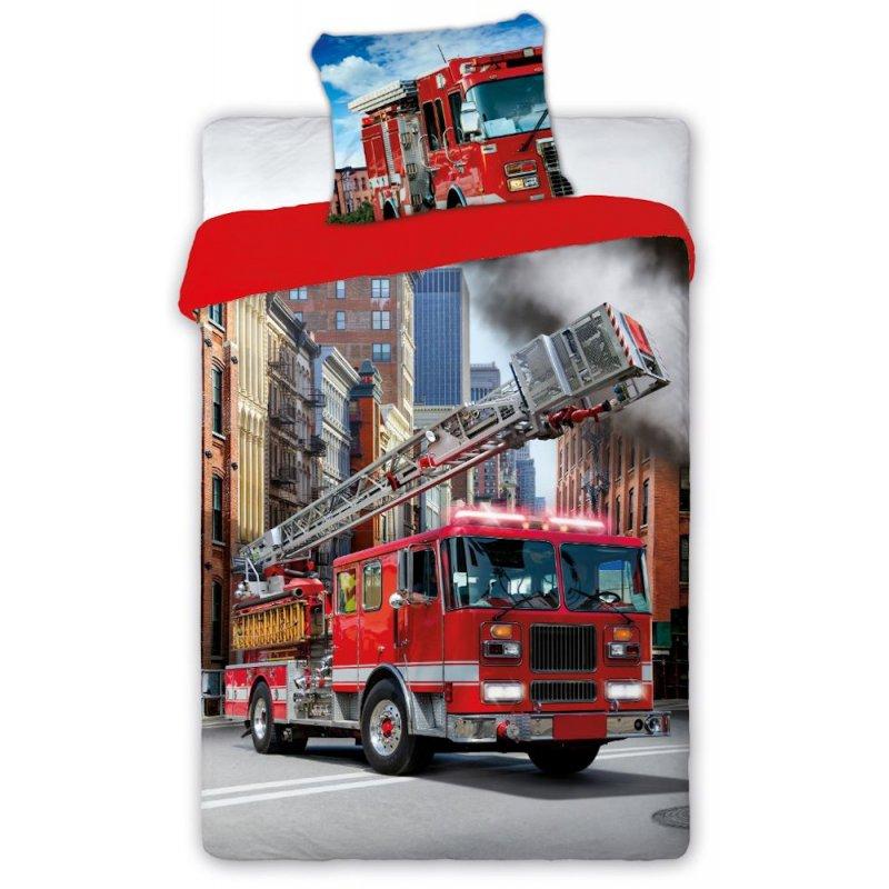 Pościel 3D 140x200 TURBO Straż Pożarna Pościel Bawełniana 140x200 Antyalergiczna Pościel 140x200 Pościel Faro Pościel Młodzieżow